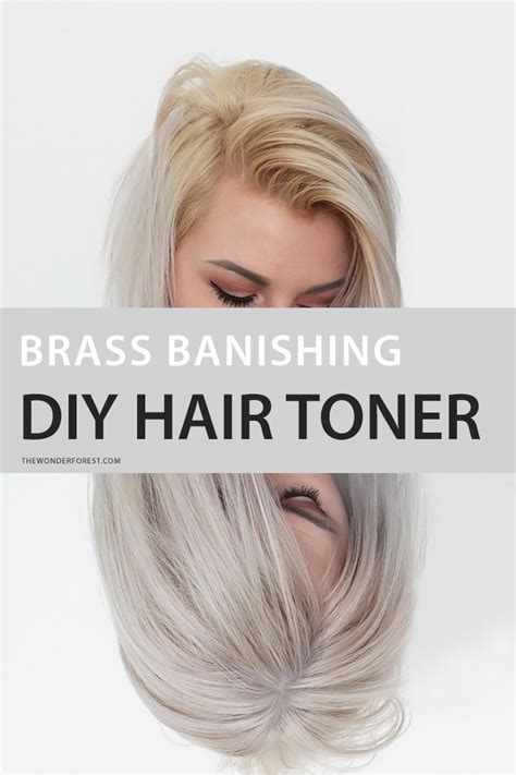 the counter purple hair toner brass banishing diy hair toner for blondes wonder forest