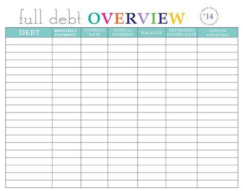 paying  debt worksheets worksheets budgeting