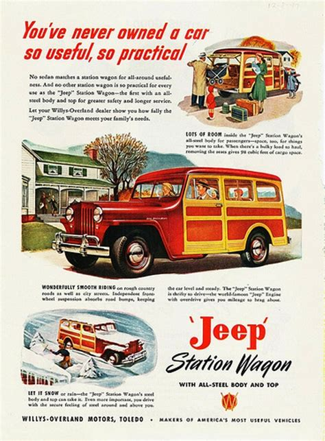 vintage jeep ad willys jeep wagon vintage automobile ads pinterest
