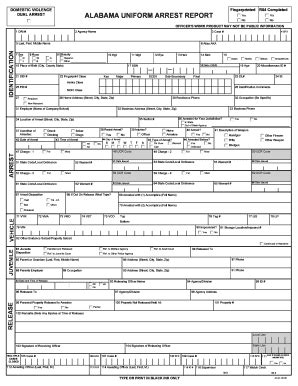 Alabama Jail Release Form Fill Online Printable Fillable Blank Pdffiller Arrest Report Template