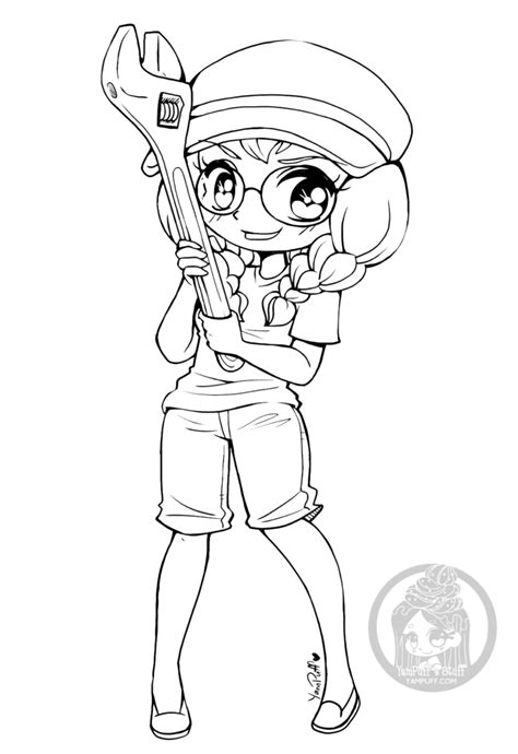 chibi coloring pages chibis free chibi coloring pages yuff s stuff