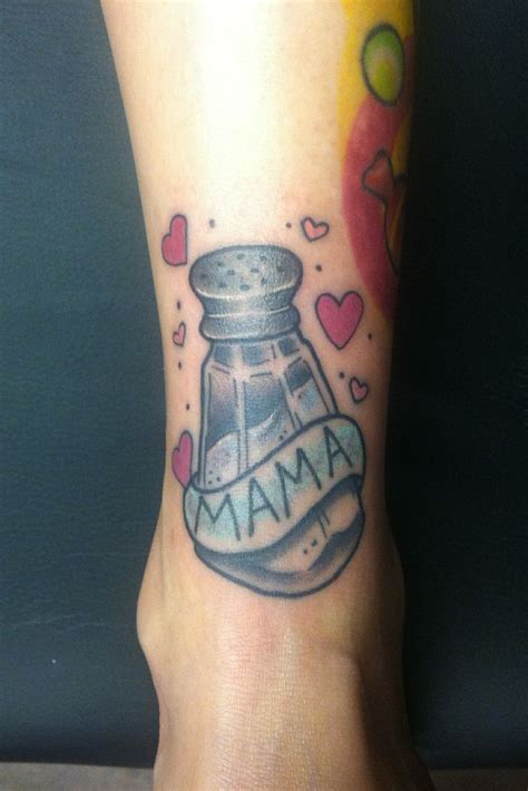 old salt tattoo salt shaker i did for a friend who s salt