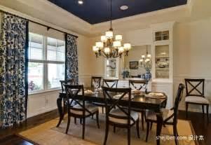 Dining Room Decorating Ideas Blue 欧式小餐厅吊顶装修效果图欣赏 土巴兔装修效果图