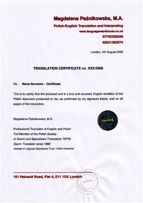 certification letter for translation faq languagewarehouse