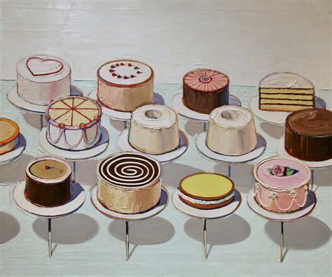 cake painting verbatim citation wayne thiebaud