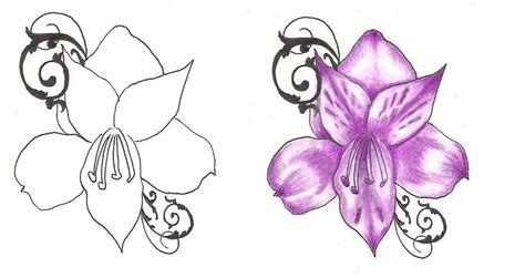 purple flower tattoo designs pin by purple flowers berries and some blue