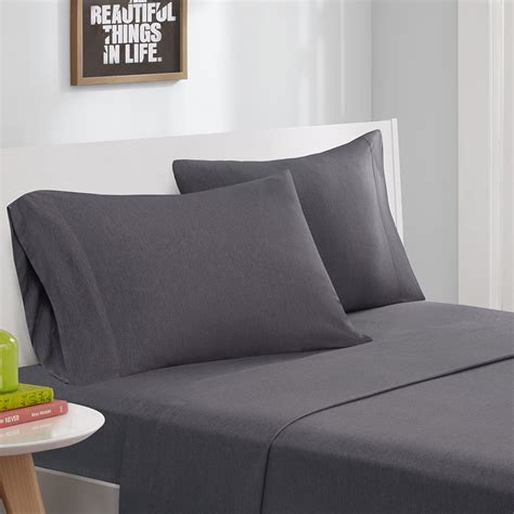 jersey bed sheets intelligent design cotton blend jersey knit sheet set ebay