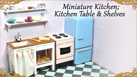 doll kitchen table miniature doll kitchen table w sink shelves wood