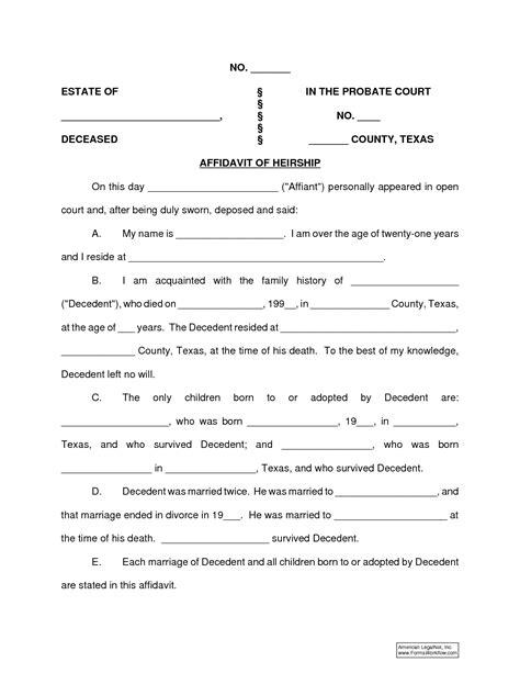 affidavit of fact form texas vocaalensembleconfianza nl