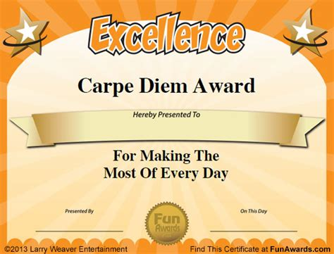 free silly card template awards 101 printable certificates