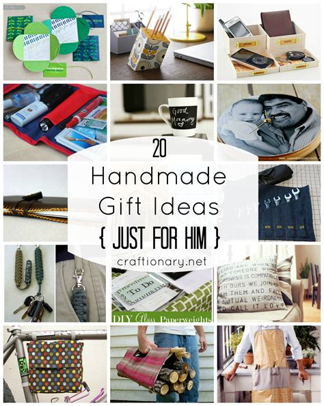 Handmade Gifts For Him - craftionary