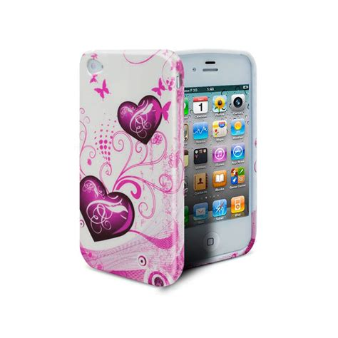 coque iphone 4s 4 hearts abstraction clubcase fr