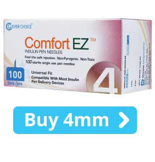 comfort ez pen needles clever choice comfortez insulin syringes pen needles