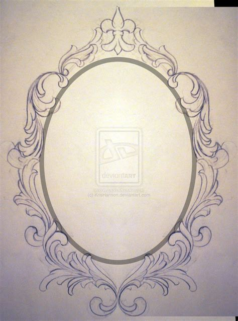 mirror tattoo design filigree frame request unfinished by krishanson on deviantart