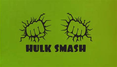 Wall Stickers Etsy hulk smash fist wall quote sign vinyl decal sticker ba man