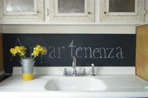 chalkboard kitchen backsplash for renters 6 blackboard backsplashes apartment therapy