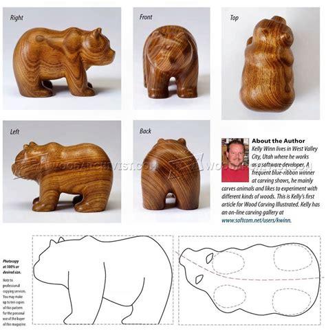 wood animal pattern 1 879 ведмідь carving різьблення по дереву шаблони