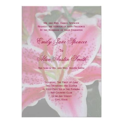 Wedding Invitations Stargazer Lilies