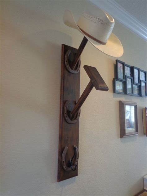 Home Made Hat Rack by Western Cowboy Hat Rack