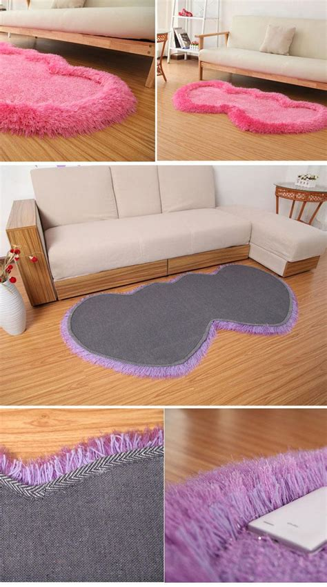 double bathroom rugs 70 140cm double heart shape bathroom mats large shaggy rug