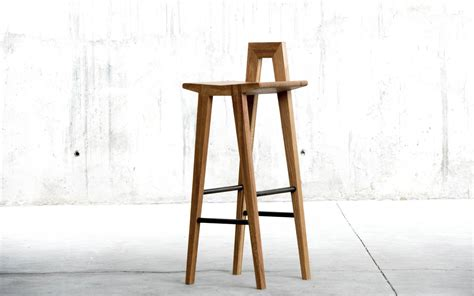 Wooden Bar Stool With Back Unique Wood Bar Stool With Small Back Decofurnish