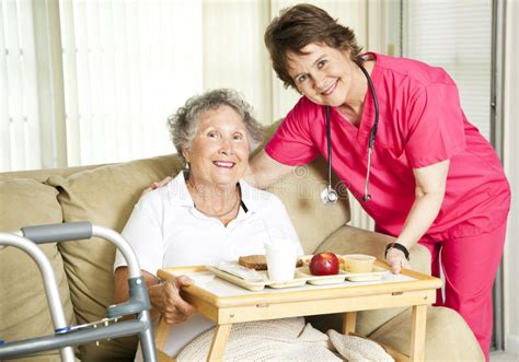 lunch   nursing home stock image image