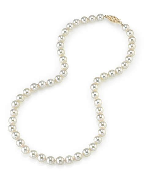 7 0 7 5mm japanese akoya white pearl necklace aaa quality