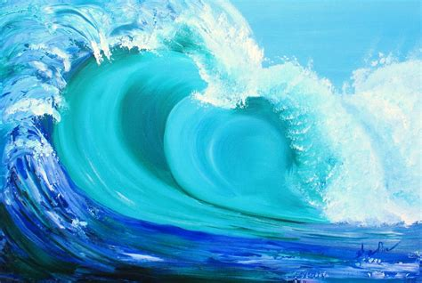 acrylic painting waves wave acrylic painting earth spirit and glass