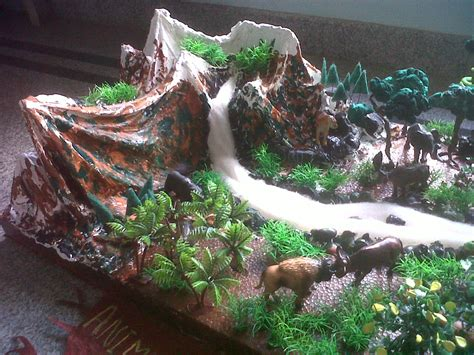 How To Make A Mountain Model Out Of Paper - another model of forest made by a creative