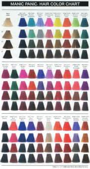 manic panic hair color chart manic panic hair dye uk colour chart