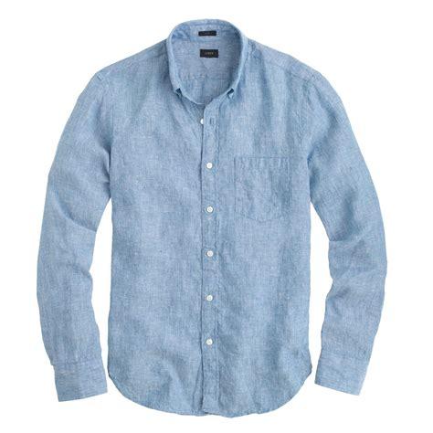 Linen Shirt j crew d 233 lav 233 linen shirt in blue for amalfi