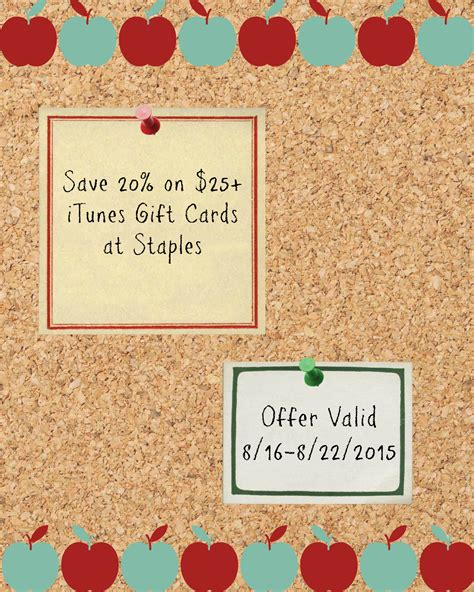 Itunes Gift Cards For Cash - save money on itunes gift cards itunesstaples20