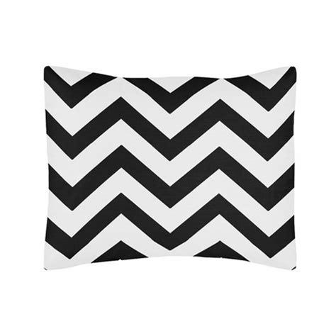 black and white zig zag comforter standard pillow sham for black and white chevron zig zag