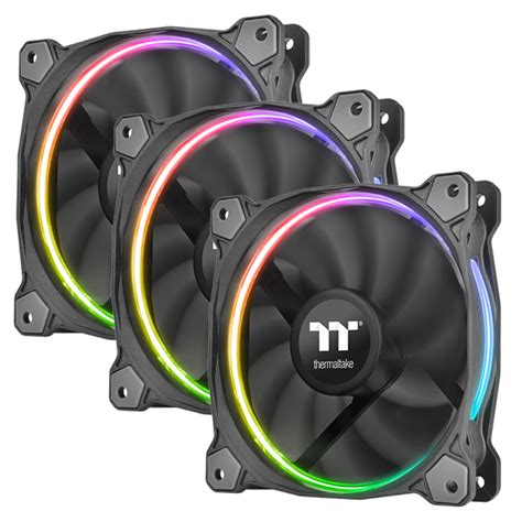 Thermaltake Riing 12 Rgb Radiator Fan Tt Premium 3pack thermaltake riing plus 12 rgb radiator fan tt premium
