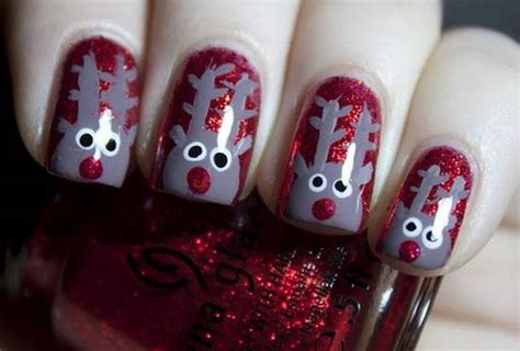 easy nail art for xmas best easy simple christmas nail art designs ideas