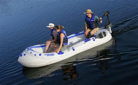 electric motor on inflatable boat intex excursion 5 5 person inflatable boat review