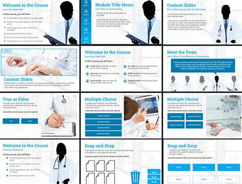 course starter medical e learning template elearning