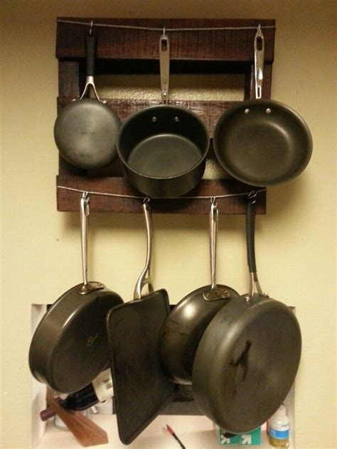 home improvements pallet pot rack a greenpoint kitchen 17 best images about for the home on pinterest pot racks