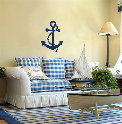 nautical themed living room decorating with a nautical theme