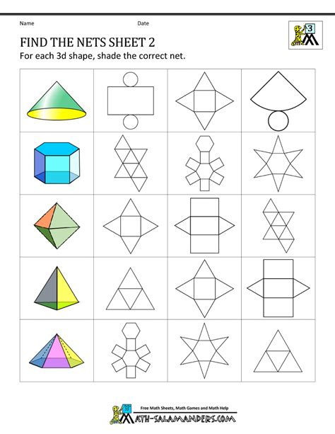 Geometric Worksheet by Geometry Nets Information Page