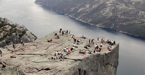 fjord jobs chicago photographer stunned by family placing baby on a cliff
