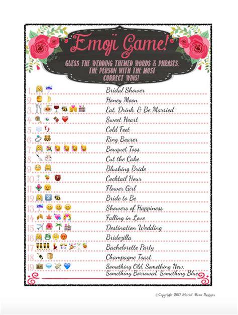 diy pictionary rustic chalkboard theme pink bridal shower idea emoji