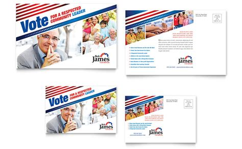 political templates political caign postcard template word publisher