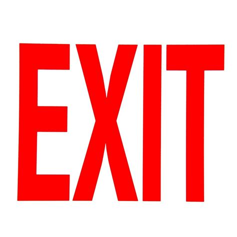 Exit A buckeye glow in the exit sign adhesive label