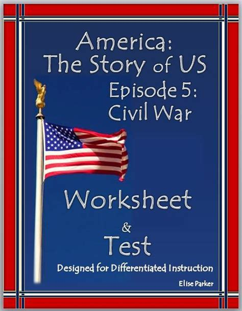 America The Story Of Us Civil War Worksheet by The World S Catalog Of Ideas