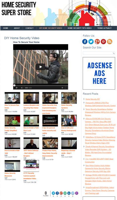 home security plr store website