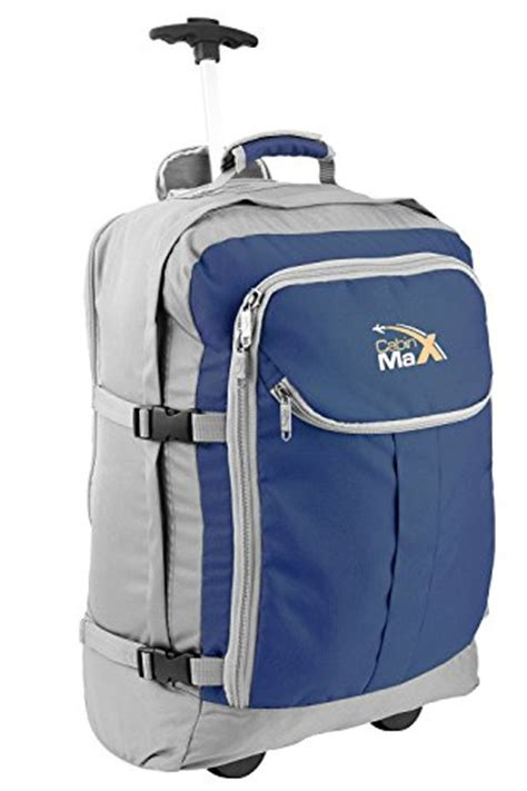 cabin max lyon cabin luggage trolley backpack with padded laptop