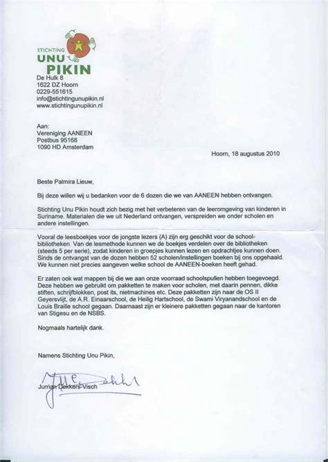 Bedankbrief Voorbeeld Samenwerking bedankbrief uit suriname