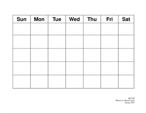 free 5 day calendar template free printable 5 day monthly calendar 2018 template
