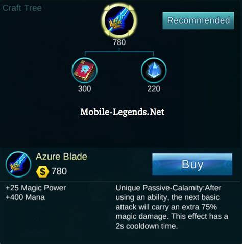 Fan Armaggeddon Azzure Blade azure blade crafting mobile legends